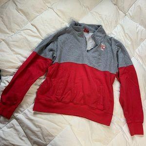 Wisconsin Badger Quarter Zip Sweater